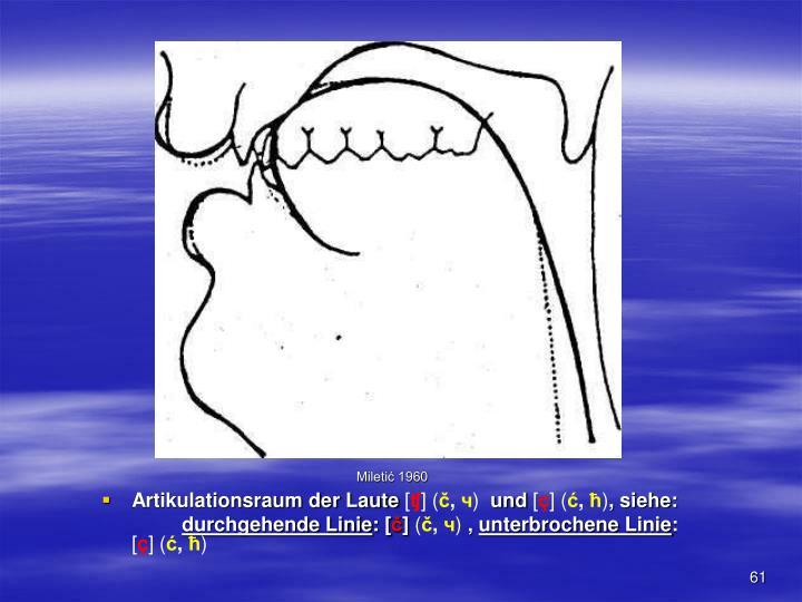 Artikulationsraum der Laute