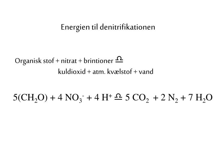 Energien til denitrifikationen