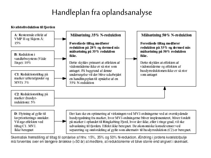 Handleplan fra oplandsanalyse