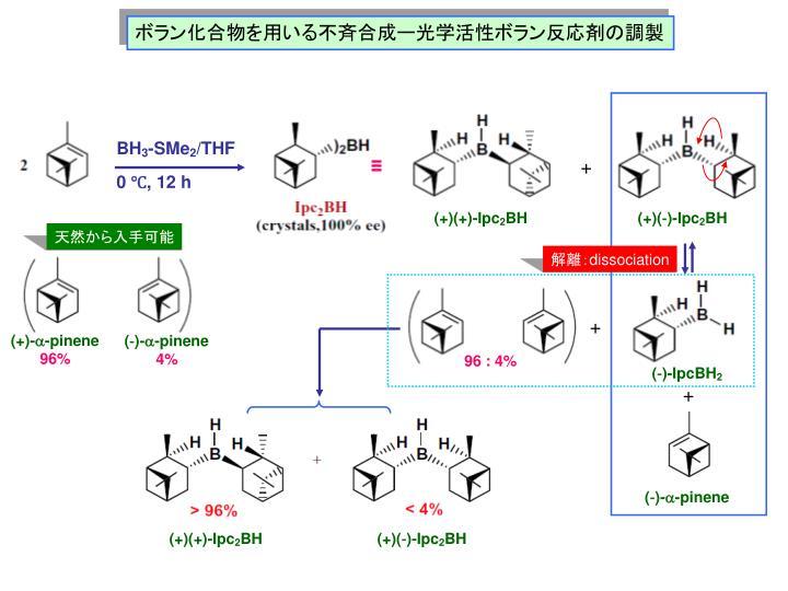 ボラン化合物を用いる不斉合成ー光学活性ボラン反応剤の調製
