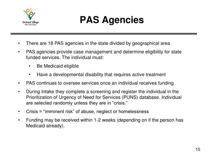 PAS Agencies