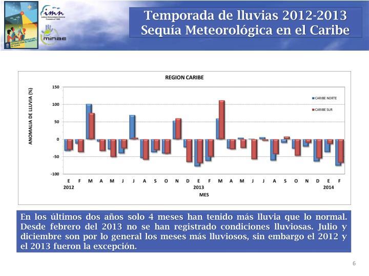 Temporada de lluvias 2012-2013