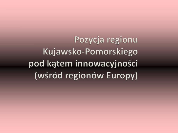 Pozycja regionu