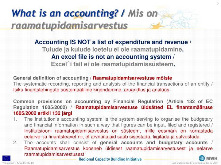 What is an accounting?