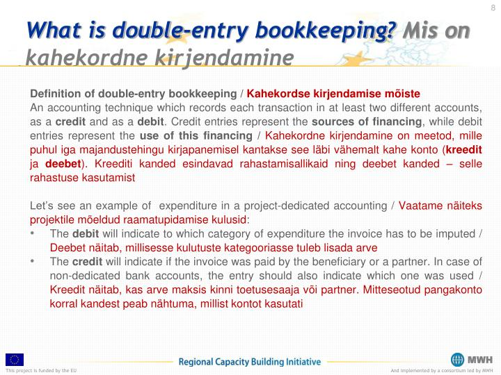 What is double-entry bookkeeping?