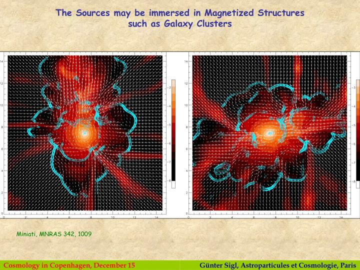 The Sources may be immersed in Magnetized Structures