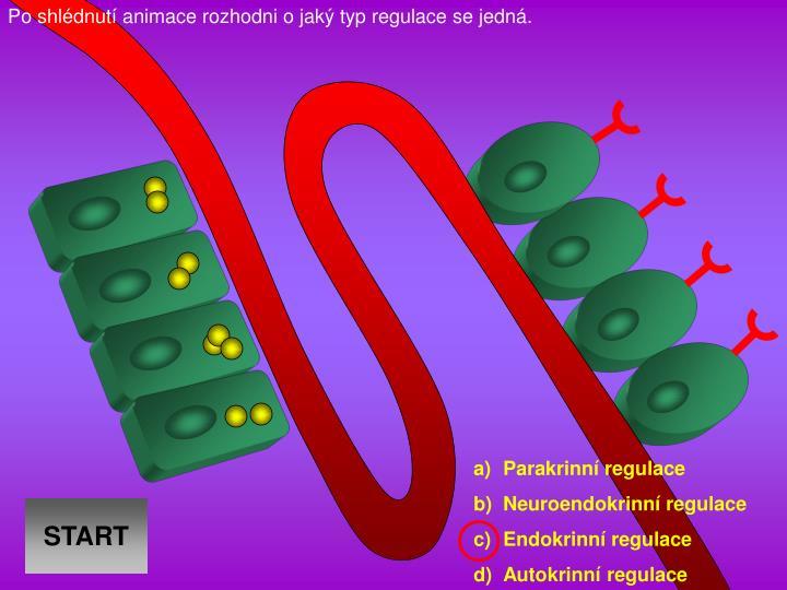 Po shldnut animace rozhodni o jak typ regulace se jedn.