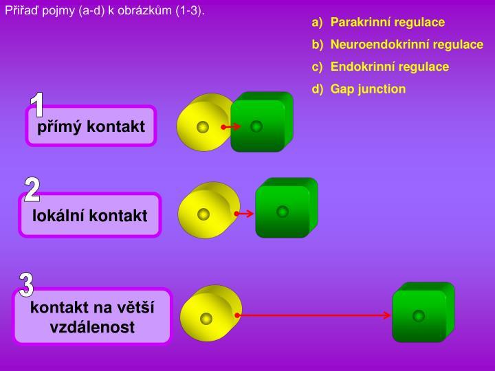 Pia pojmy (a-d) k obrzkm (1-3).