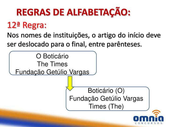 REGRAS DE ALFABETAÇÃO: