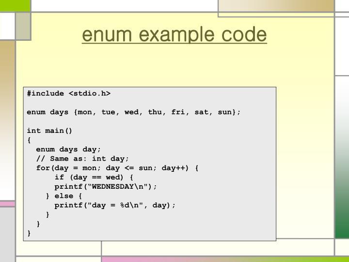 enum example code