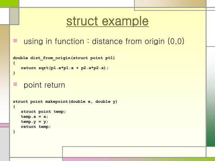 struct example