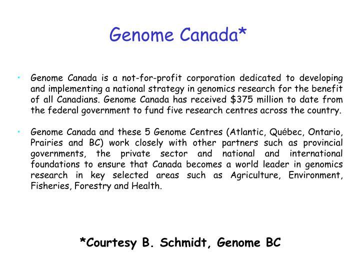 Genome Canada*