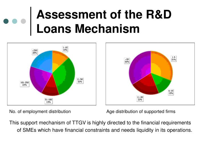Assessment of the R&D Loans Mechanism