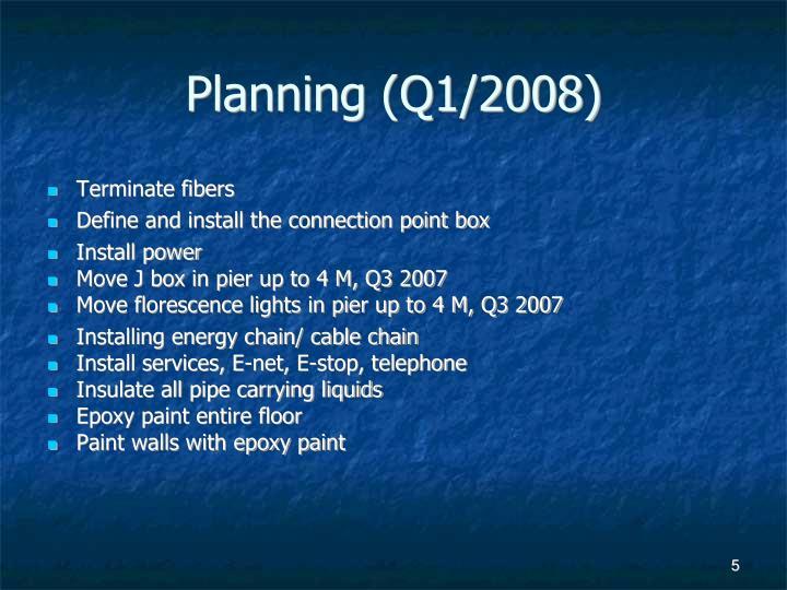 Planning (Q1/2008)