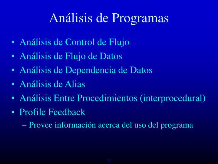 Análisis de Programas