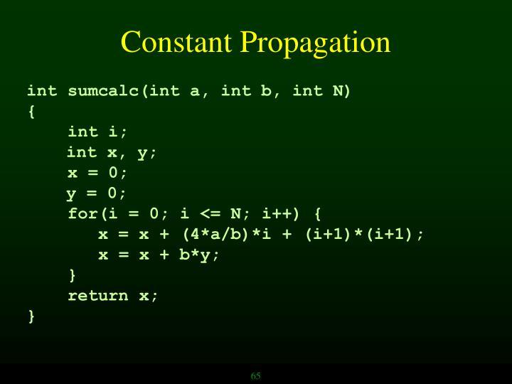 Constant Propagation