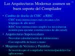 las arquitecturas modernas asumen un buen soporte del compilador