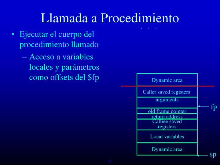 Dynamic area