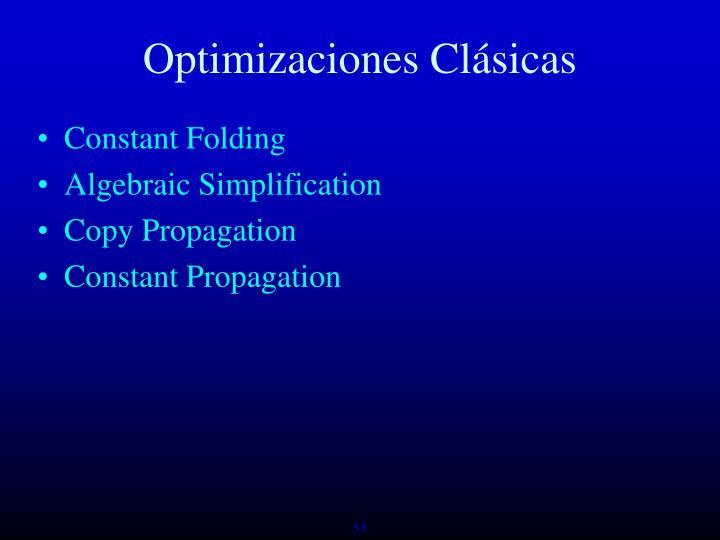 Optimizaciones Clásicas