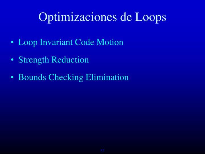 Optimizaciones de Loops