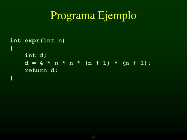 Programa Ejemplo
