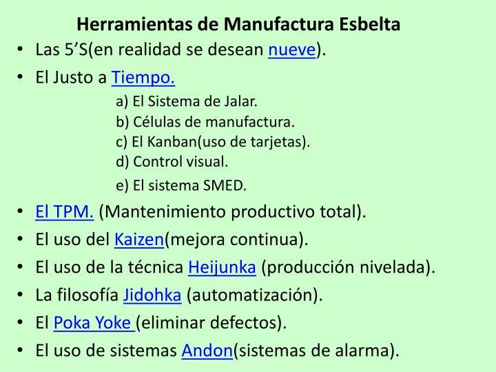 Herramientas de Manufactura Esbelta