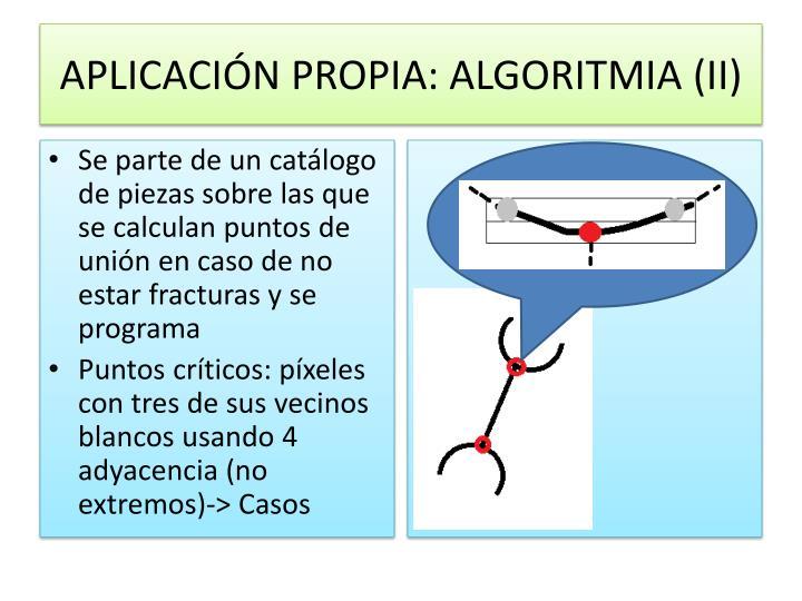 APLICACIÓN PROPIA: ALGORITMIA (II)