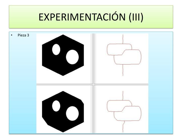 EXPERIMENTACIÓN (III)