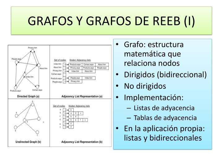 GRAFOS Y GRAFOS DE REEB (I)