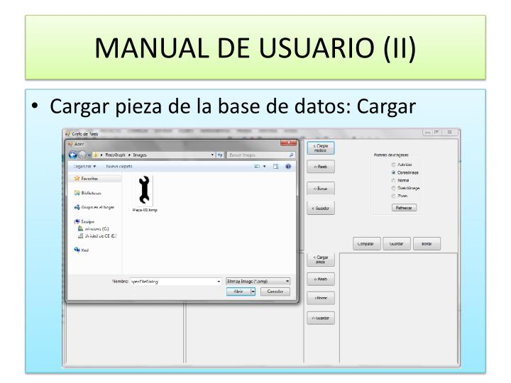 MANUAL DE USUARIO (II)
