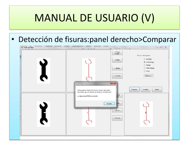 MANUAL DE USUARIO (V)