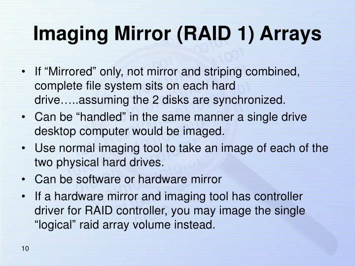 Imaging Mirror (RAID 1) Arrays