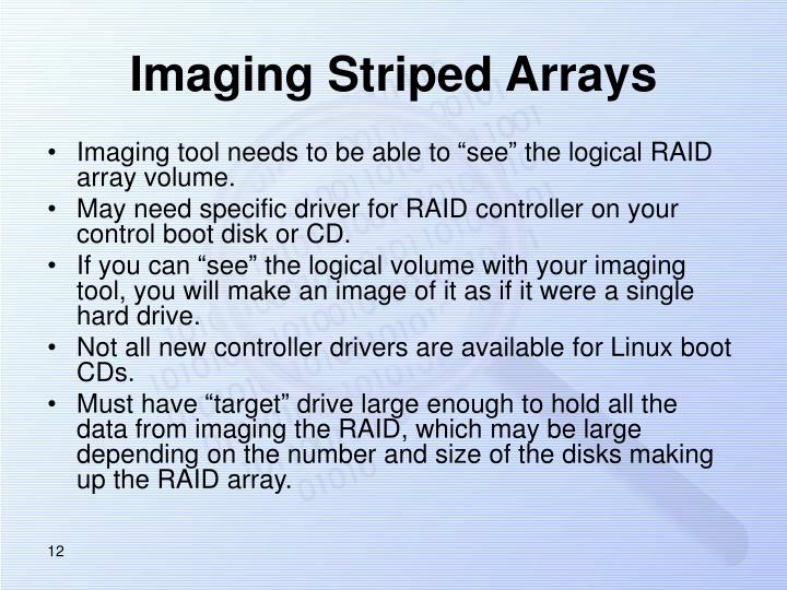 Imaging Striped Arrays