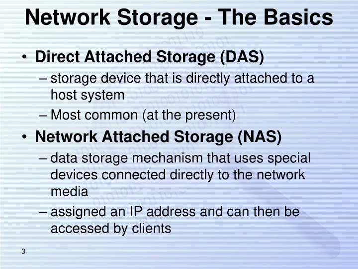 Network storage the basics