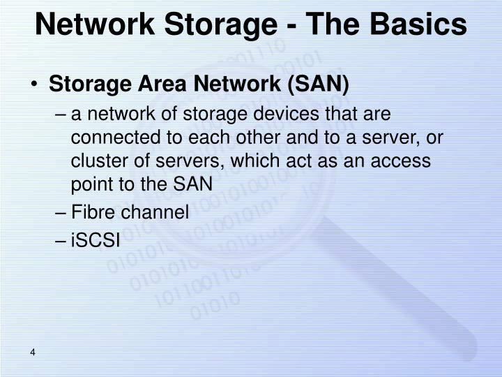 Network Storage - The Basics