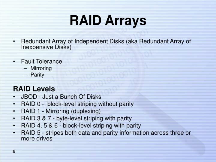RAID Arrays