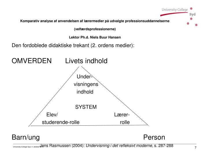 Den fordoblede didaktiske trekant (2. ordens medier):