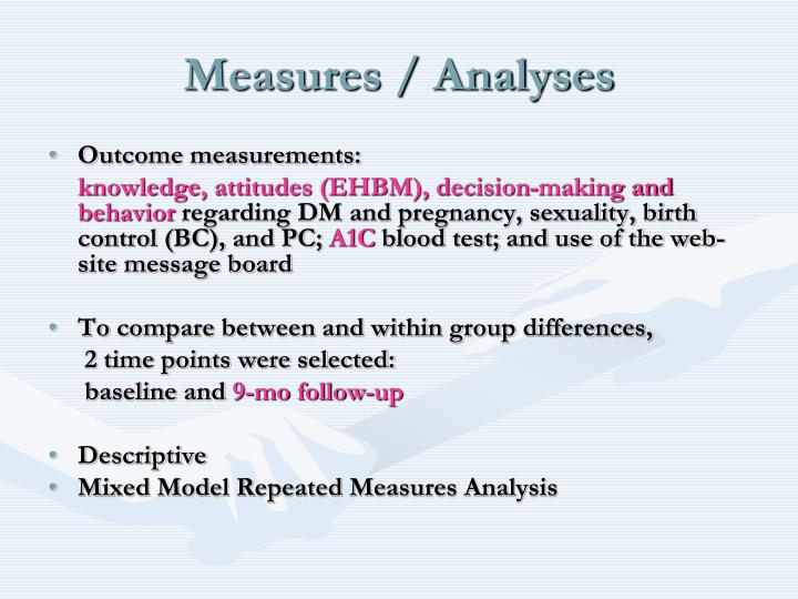 Measures / Analyses