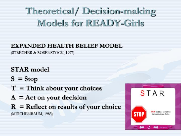 Theoretical/ Decision-making Models for READY-Girls
