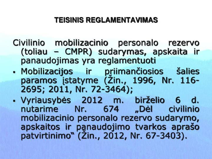 TEISINIS REGLAMENTAVIMAS