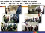 pengembangan pusat pengolahan pasca panen tanaman obat p4to dan pusat ekstrak daerah ped