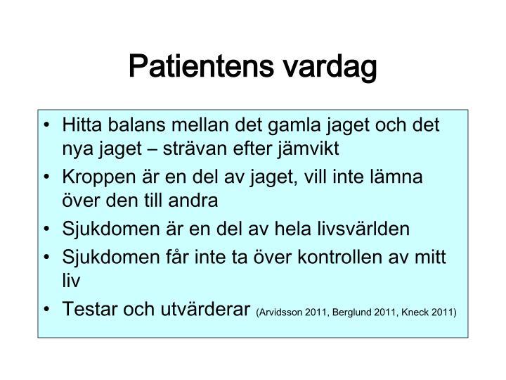 Patientens vardag