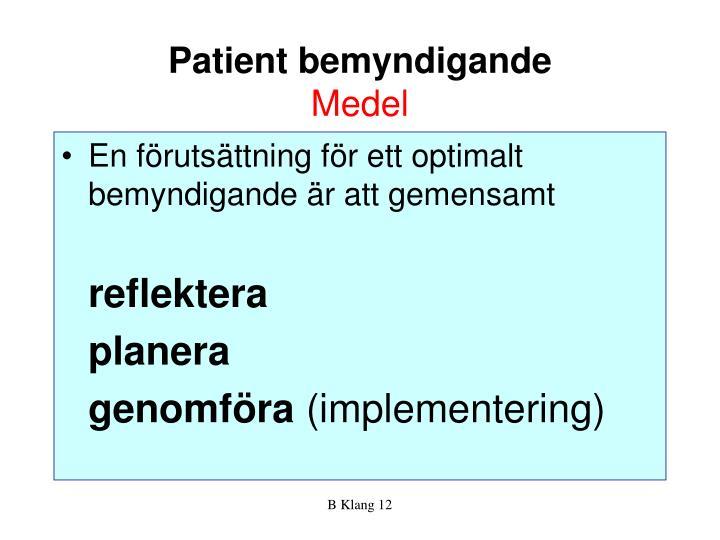 Patient bemyndigande