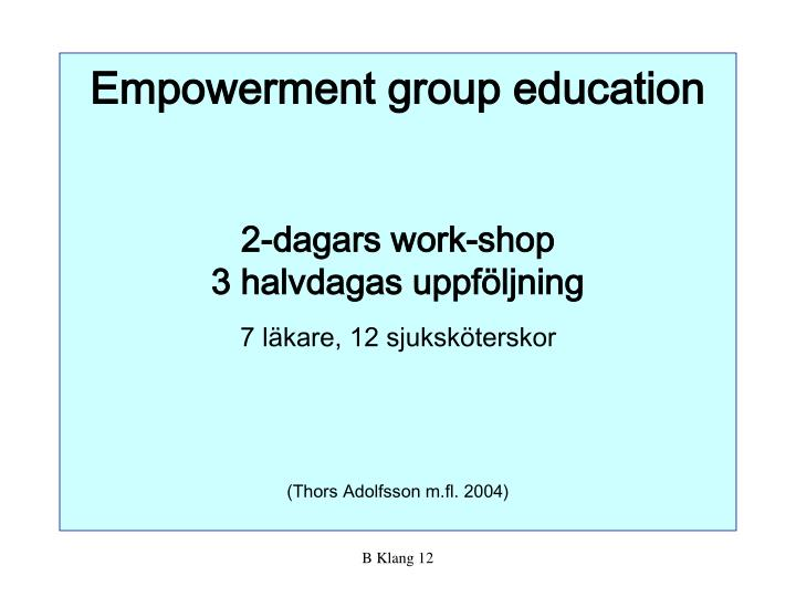 Empowerment group education