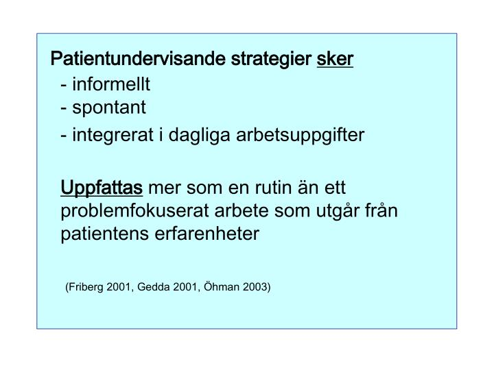 Patientundervisande strategier