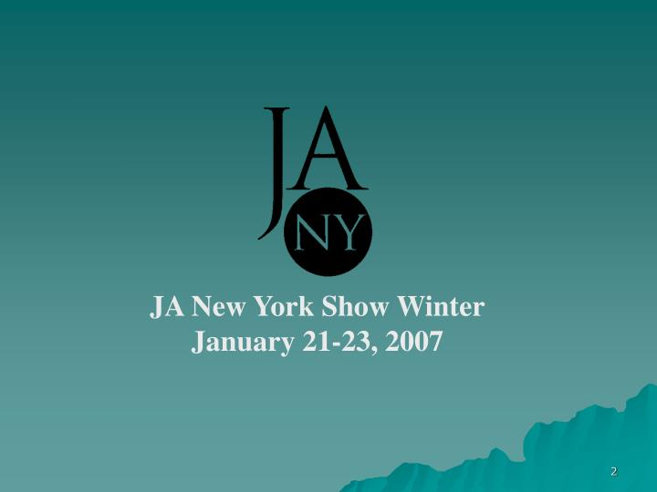 JA New York Show Winter
