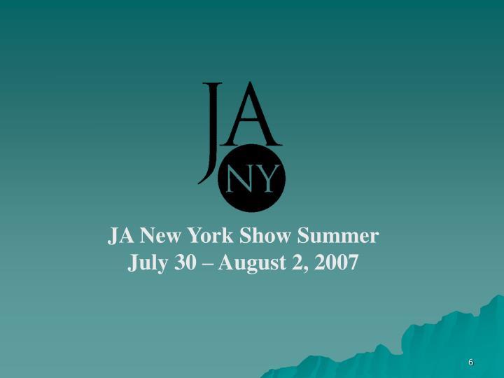 JA New York Show Summer