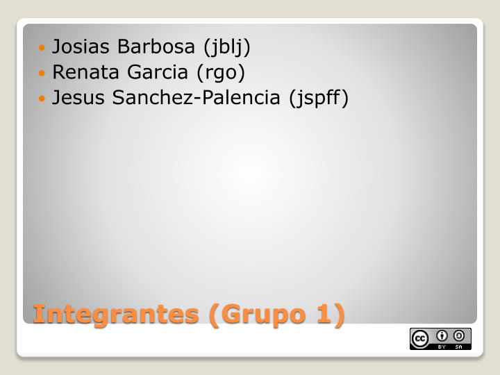 Integrantes grupo 1