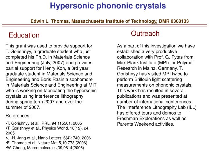 Hypersonic phononic crystals
