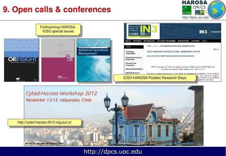 9. Open calls & conferences